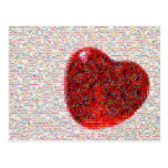 Mosaic Heart Post Cards