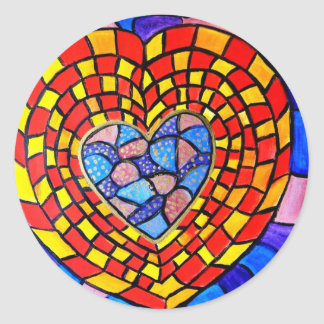 Mosaic Hearts for any occasion Stickers