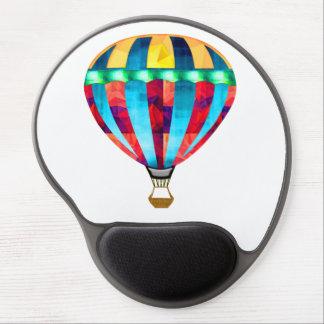 Mosaic Hot Air Balloon in Red, Yellow & Blue Gel Mousepad