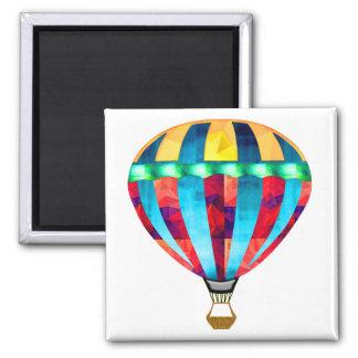 Mosaic Hot Air Balloon in Red, Yellow & Blue Fridge Magnet
