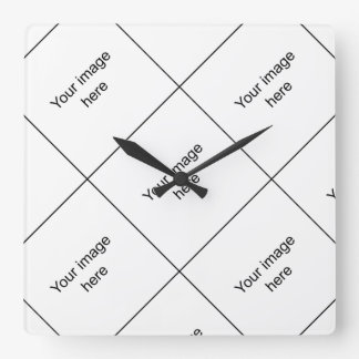 Mosaic in target of customized group of square wall clock