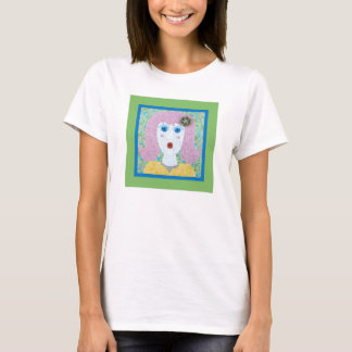 Mosaic - Ingrid with Green & Blue Border T-Shirt