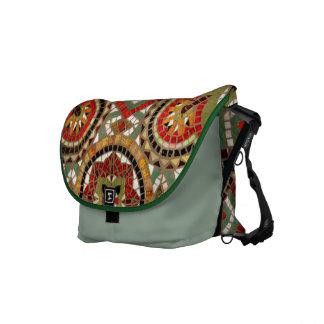 Mosaic Inlay Fractals Messenger Bag