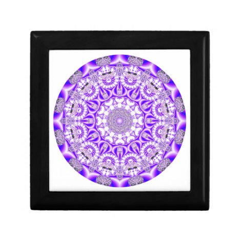 Mosaic Lace Mandala, Abstract Violet Purple Gift Box