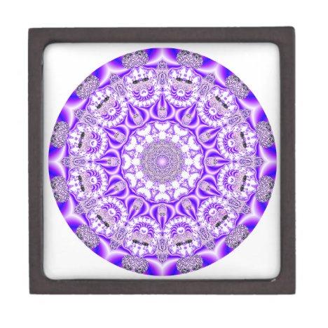 Mosaic Lace Mandala, Abstract Violet Purple Gift Box