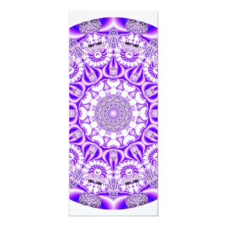 Mosaic Lace Mandala, Abstract Violet Purple Custom Invites