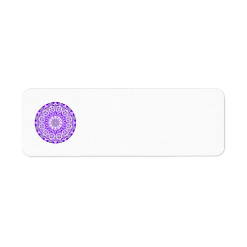 Mosaic Lace Mandala, Abstract Violet Purple Label