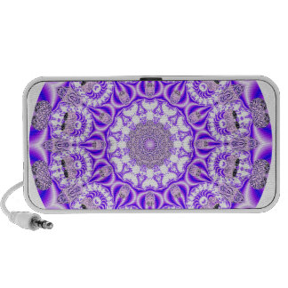 Mosaic Lace Mandala, Abstract Violet Purple Speaker System