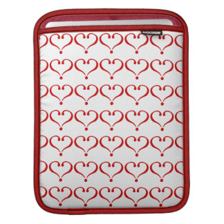 Mosaic landlord with red hearts white bottom iPad sleeve