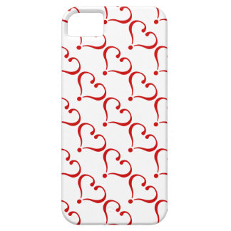 Mosaic landlord with red hearts white bottom iPhone 5 case