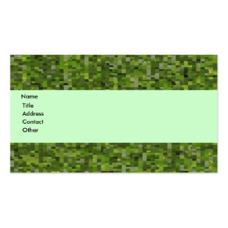 Mosaic Leaf Green Business Card