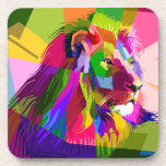 Mosaic Lion Beverage Coaster