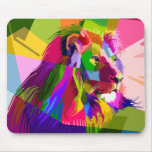 Mosaic Lion Mouse Pad