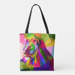 Mosaic Lion Tote Bag