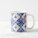 mosaic lisbon blue decoration portugal old tile coffee mug