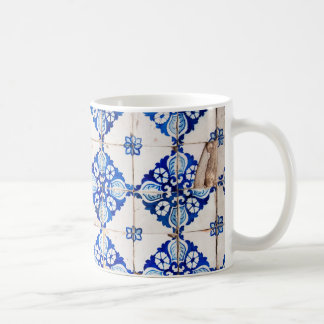 mosaic lisbon blue decoration portugal old tile coffee mug