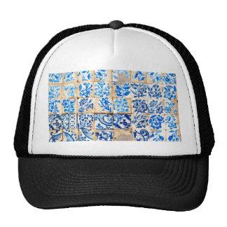 mosaic lisbon blue decoration portugal old tile po trucker hat