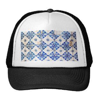 mosaic lisbon blue decoration portugal old tile trucker hat