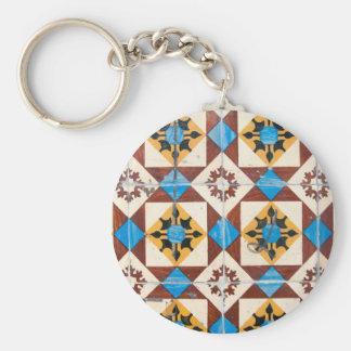 mosaic lisbon decoration portugal tile porcelain keychain