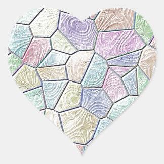 Mosaic Lora,candy Heart Sticker