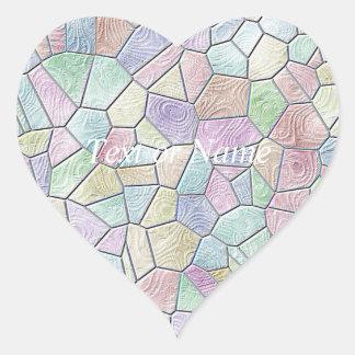 Mosaic Lora,candy Heart Stickers