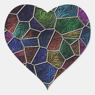 Mosaic LORA,multicolor Heart Sticker