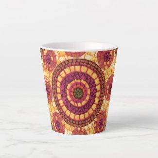 Mosaic Mandala Pattern Latte Mug