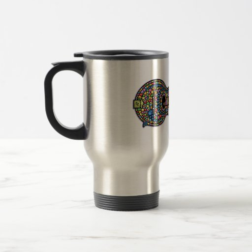 Mosaic Mandolin Stainless Steel Travel Mug
