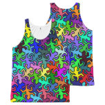 Mosaic Mirror Geckos Pattern - colored All-Over-Print Tank Top