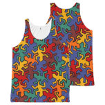 Mosaic Mirror Geckos Pattern - earth colors All-Over-Print Tank Top