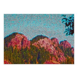 Mosaic Mountain 5x7 Paper Invitation Card