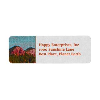 Mosaic Mountain Label