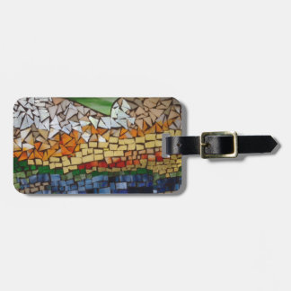 Mosaic Mountain Luggage Tag by Willowcatdesigns