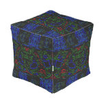 Mosaic Mystery Outdoor Pouf
