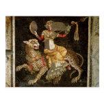 Mosaic of Dionysus riding a Leopard c.180 AD Postcard