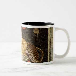 Mosaic of Dionysus riding a Leopard c.180 AD Two-Tone Coffee Mug