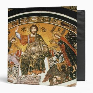 Mosaic of Jesus Christ with the Virgin 3 Ring Binders