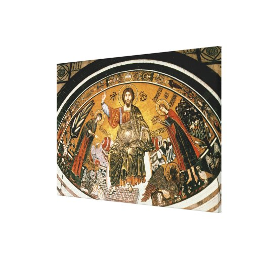Mosaic of Jesus Christ with the Virgin Canvas Print
