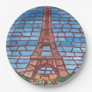 Mosaic Painting Eiffel Tower Paper Plates  sc 1 st  Zazzle & Eiffel Tower Painting Kitchen Accessories \u0026 Supplies | Zazzle