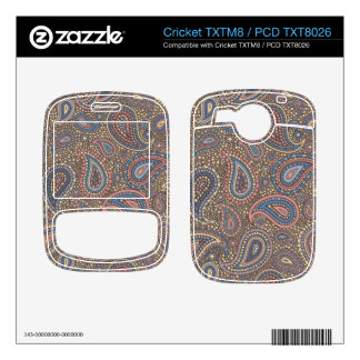 Mosaic Paisley Effect in Beige Rose Decals For Cricket TXTM8