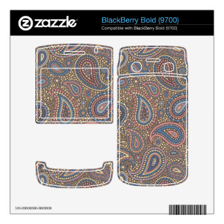 Mosaic Paisley Effect in Beige Rose BlackBerry Bold Decals