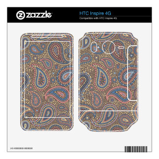 Mosaic Paisley Effect in Beige Rose Skin For HTC Inspire 4G