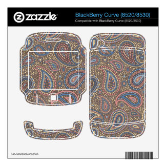 Mosaic Paisley Effect in Beige Rose Skins For BlackBerry