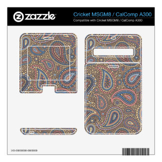Mosaic Paisley Effect in Beige Rose Decals For Cricket MSGM8