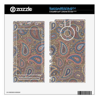 Mosaic Paisley Effect in Beige Rose Toshiba REGZA Decal