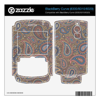 Mosaic Paisley Effect in Beige Rose Decals For BlackBerry