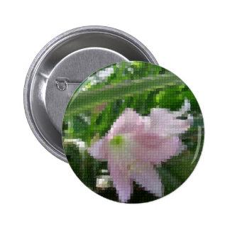Mosaic Pale Pink Amaryllis 1 Pinback Button