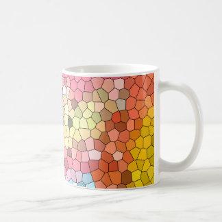 Mosaic pastel coffee mug