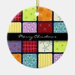 Mosaic Patchwork Christmas Ornament