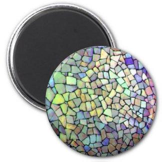 Mosaic Pattern 2 Inch Round Magnet